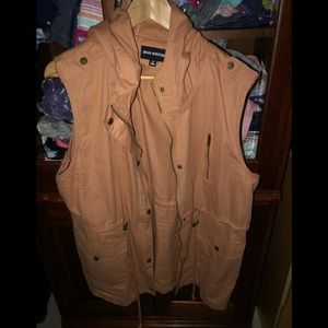 Beautiful camel colored jacket vest